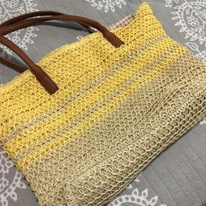 Like new straw purse!
